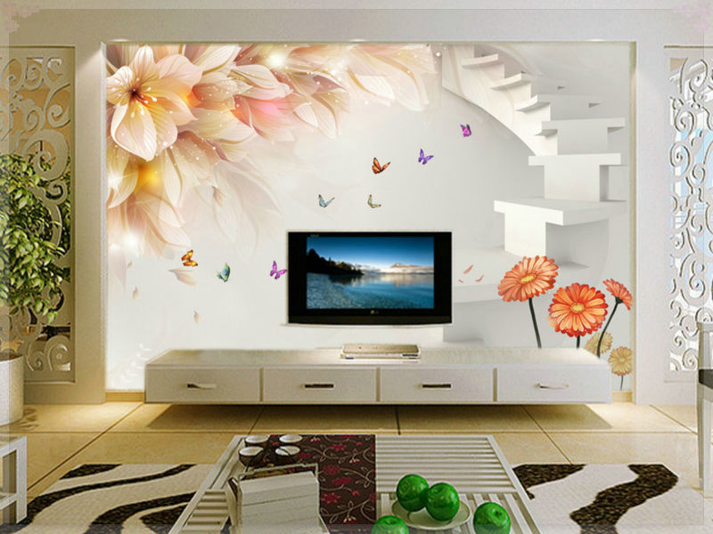 New Sale Tapete Large Living Room Bedroom Wallpaper Murals 3d Stereoscopic  Video Wall Backdrop Personalized Custom Woven Tv Tape In Wallpapers From  Home ... Part 43