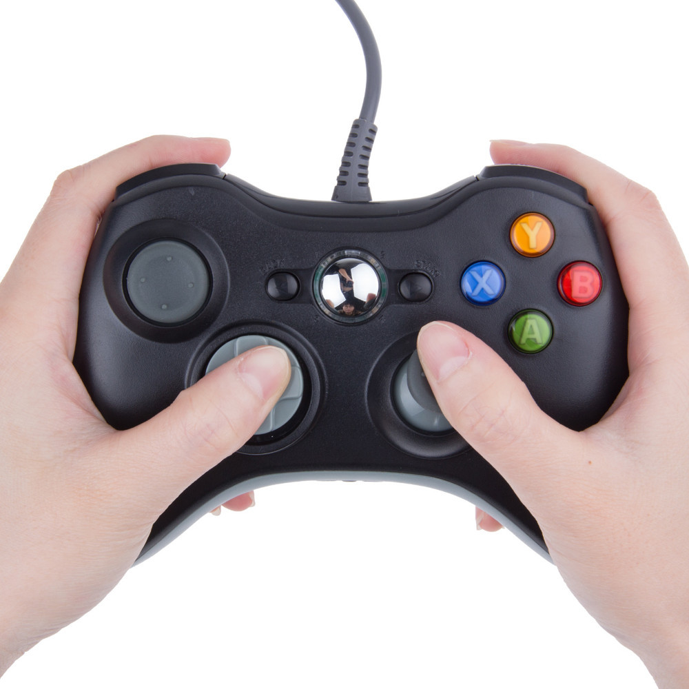 ViGRAND USB Wired Joypad Gamepad Black Controller For Xbox 360 Joystick For Official Microsoft PC for Windows7 / 8 / 10