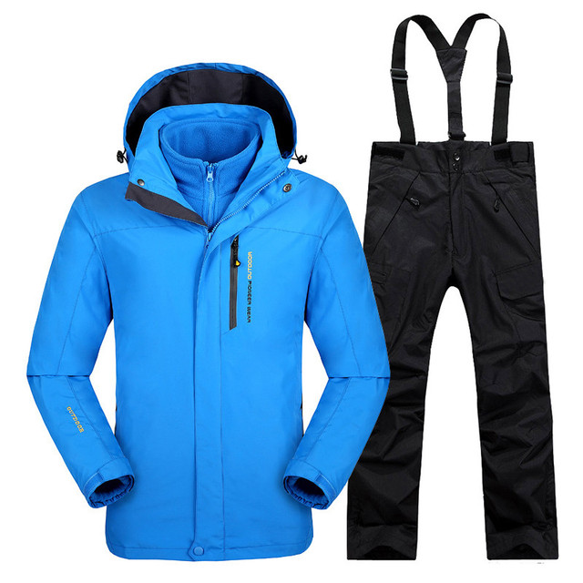 Russia Winter Ski Jacket Men s Water-proof Breathable Thermal Snowboard  Warm Jackets and Pants Outdoor 5eb37ef90