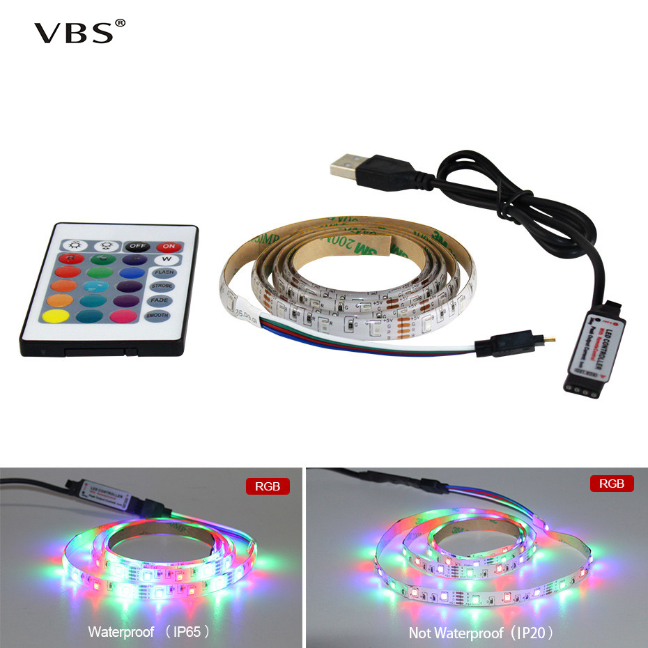 Powerful DC 5V LED Strip With USB Port SMD 2835 Waterproof IP65 Used for decoration or lighting Day and Night tira fita led A1 in LED Strips from Lights Lighting