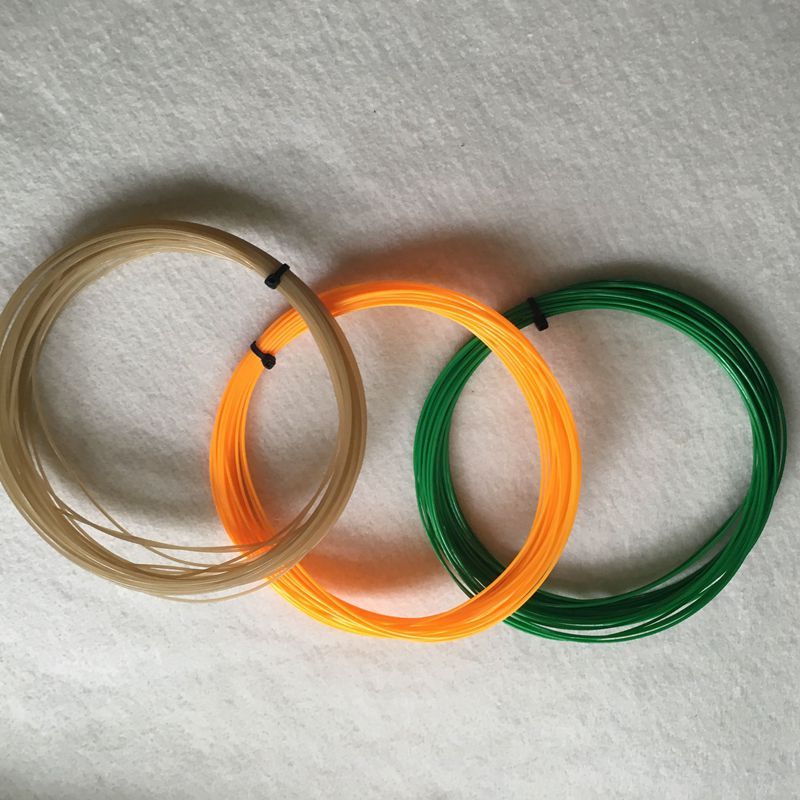 1pc Retail Polyester Tennis Strings 1.3mm 12m For 1 Racket
