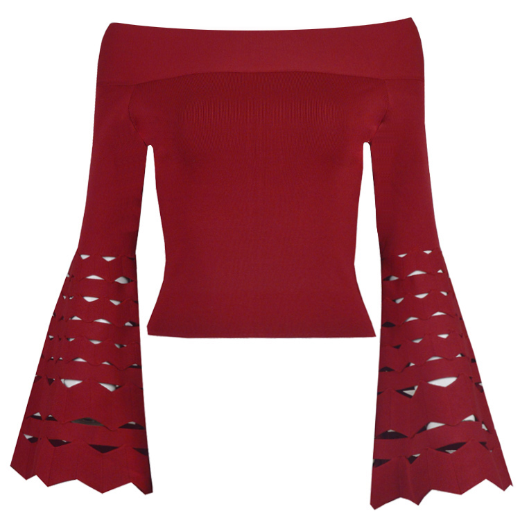 Bandage Vest Womens Clothing Autumn Bodycon Evening-Party Sexy Black Wholesale Blue Red