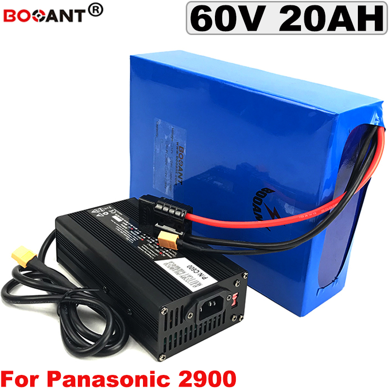 For Panasonic 18650 Cells E Bike Battery 60v 20ah With 5a