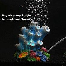 NEW Resin Aquarium Artificial Coral Air Bubble Decoration Fish Tank Air Stone Decoration Used With Aquarium Air Pump Lighting