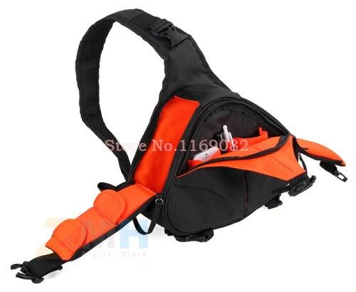 DSLR Épaule Camera Bag Vidéo Triangle diagonale Portable Carry Case pour Canon 600D D600 7D 5D2 60D Nikon D90 D60 D700 D7000