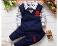BibiCola весна осень мальчиков рождественские костюмы одежда наборы детские товары одежда набор бабьем мальчиков ложные 2 шт. t-футболки + брюки