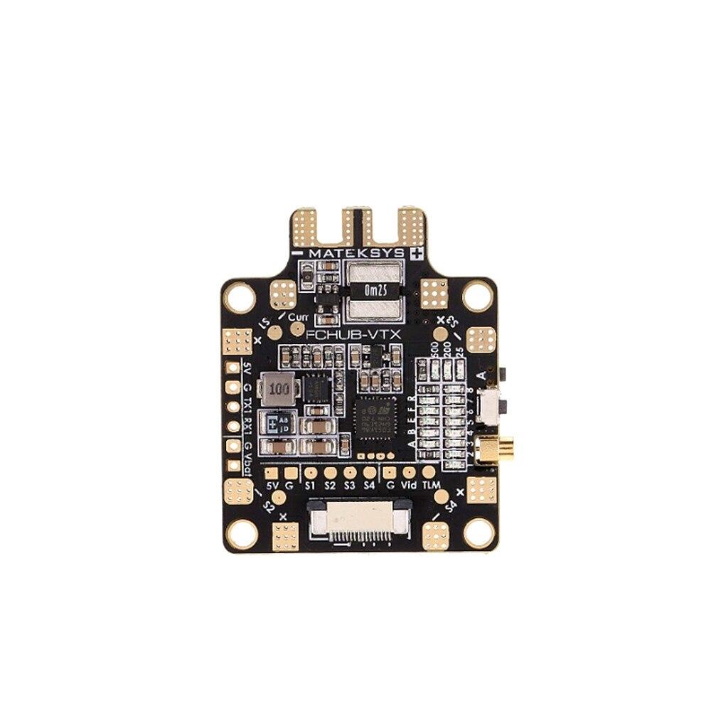 Video Transmitter 5.8G, Matek FCHUB-VTX 6~27V PDB 5V/1A BEC For RC Racing Multticopter Multifunctional distributor boardVideo Transmitter 5.8G, Matek FCHUB-VTX 6~27V PDB 5V/1A BEC For RC Racing Multticopter Multifunctional distributor board