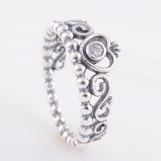 c861b14ec67c Auténtica plata de ley 925 mi princesa anillo corona de la reina diseño  anillos de boda