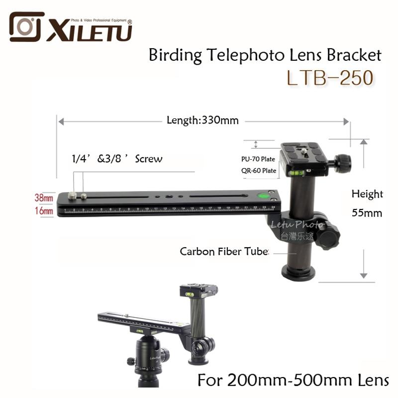 Xiletu LVQ-250 Telephoto Zoom Lens holder Bracket Adapter Tripod Monopods With 1/4-3/8inch Screw Quick Release Plate Bird wathi