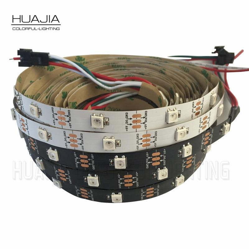 1M WS2812 LED-csík nem vízálló 30LED / m Fekete-fehér - LED Világítás