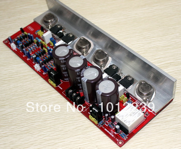 free shipping Assembled 150W+150W FET (2SK2955, 2SJ554) amplifier board (PMA-S1) assembled tas5630 2 1 digital amplifier board 300w 150w 150w