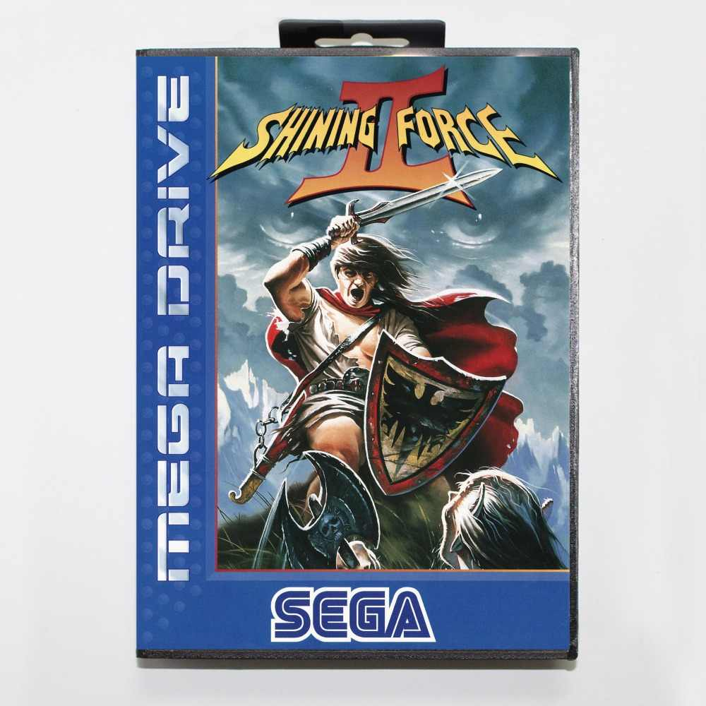 Shining Force 2 Game Cartridge 16 bit MD Game Card With Retail Box For Sega Mega Drive For Genesis