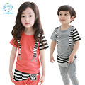 Summer Sports Suit For Baby Boys And Girls Short Sleeves T Shirt And Casual Cotton Capris Korean Style Children's Clothing Sets