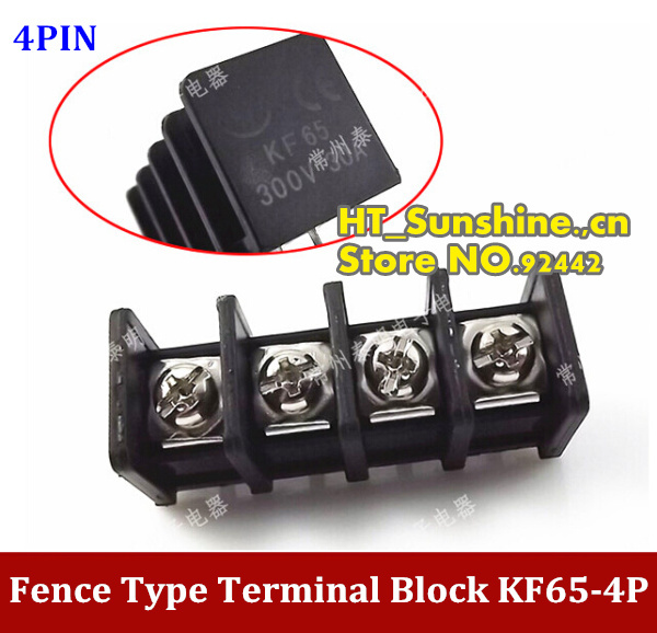 Hot Sale KF65-4P Fence type terminal block  4PIN terminal wiring ,Connector spacing 11MM  high quality connector rm15wtpza 4p 71