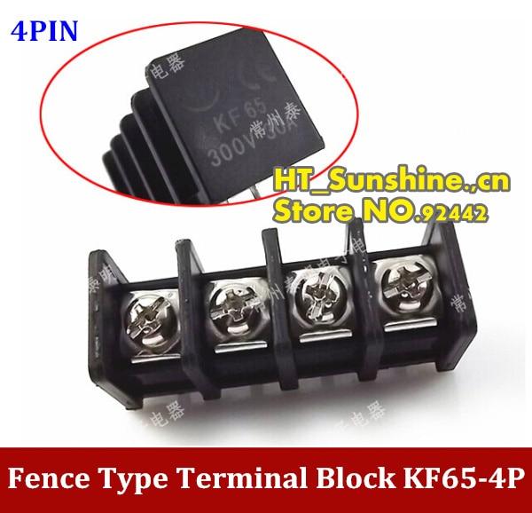 Горячая Распродажа KF65-4П Тип забор клеммный блок клемма 4-контактный ,разъем расстояние 11 мм высокое качество
