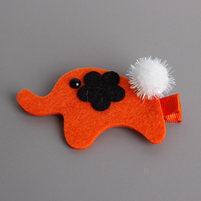 2pcs=1 lot Animation Cartoon Elephant Styling Hair Clip Girls Hairgrips Cotton Hair Bows Hairpins Hair Accessories