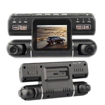 Multilingual Camera Video Recorder Dual Lens 2018 New Dash Cam 2.0 Inches LCD 120 Plus 120 Degree Wide Angle Car DVR HD G-Sensor