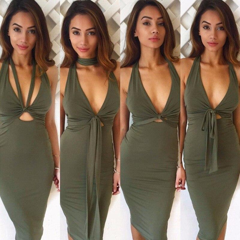 skitzyou Summer Deep Plunge Women Sleeveless Dress Vestidos De Festa Slim  Party Dresses Casual Sexy Night Clubwear Bodycon Dress-in Dresses from  Women s ... 544c32301