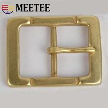 Meetee Solid Brass Men Belt Buckle Metal Pin Buckle Head For Belt 36-37mm DIY Leather Craft Jeans Accessories стоимость