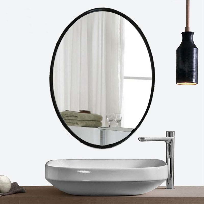 Oval bathroom mirror European mirror bathroom dresser wall hanging mirror mirror simple mode LO611220 mini dresser make up tank mirror small dresser