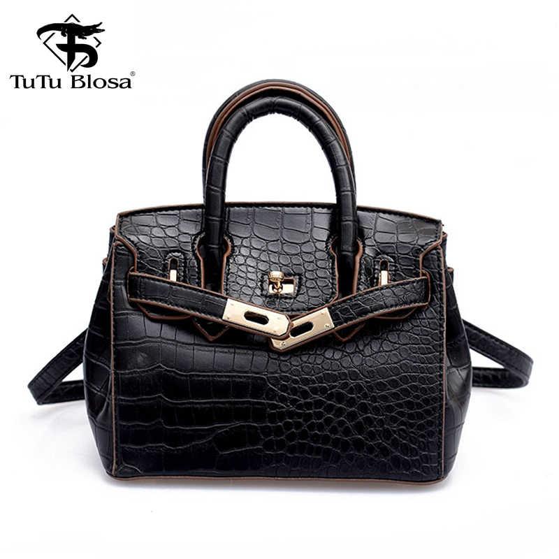 fba1b51f86 High Quality Women Bag Crocodile Skin Handbag Ladies Leather Messenger Bag  Red Shoulder Crossbody Tote Bag