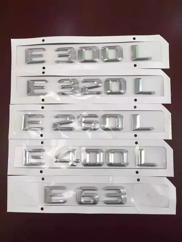 NEW Car-Styling 3D Displacement Number LOGO Sticker ABS Plating Decal For Mercedes E Class W124 W210 W211 W212 W213 C207 124 mercedes coupe на запчасти