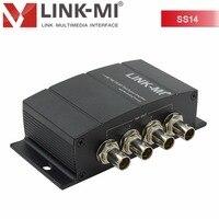 Link ми lm ss14 1x4 HD SDI сплиттер с повторной синхронизации Функция оптический с bnc разъем 1X2 1x4 HD 3G распределения до 1080 P
