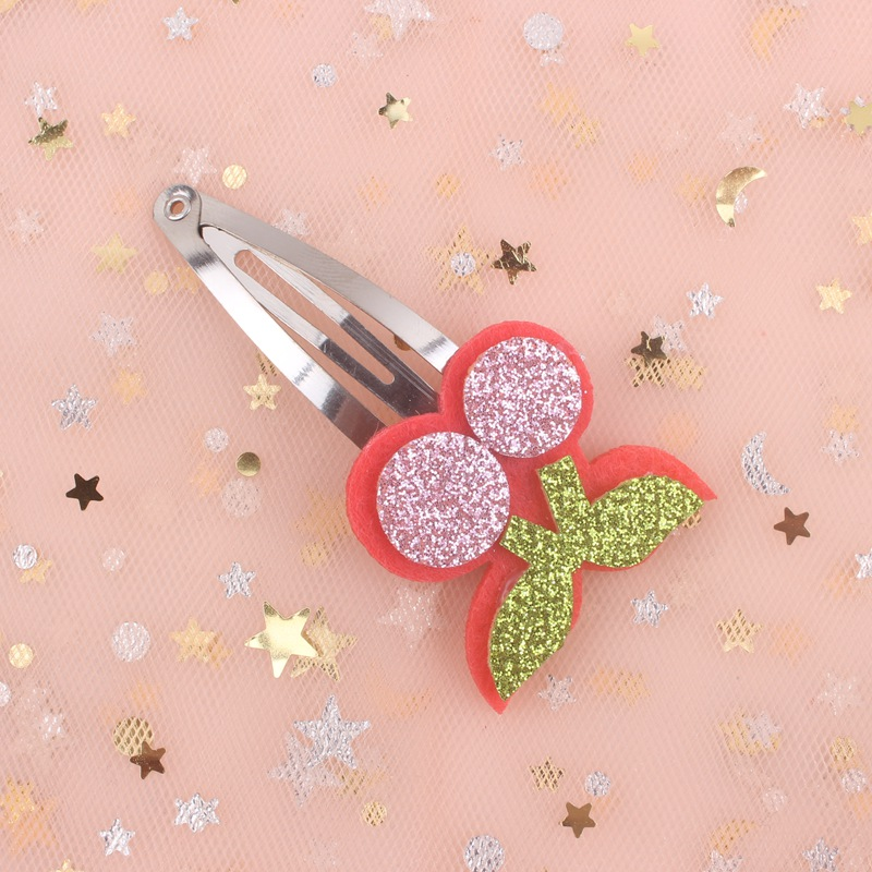 2019 New Fruit Cherry Girls Gold Bb Hairpin Hair Accessories For Kids Clip Women Barrettes 1pcs pink Red Sky Blue Purple