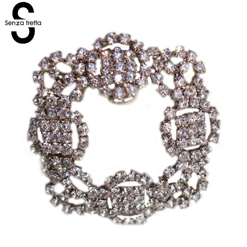 1pc High Quality Rhinestone Shoe Clips Decoration Sandals High Heels Shoes Button DIY Metal Shoe Decorations 5.5*5.5 cm DOP7666