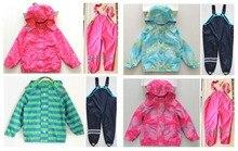 Дети зима ветрозащитный водонепроницаемый дети в одежда дети комплект утолщение на открытом воздухе куртка лыжный костюм