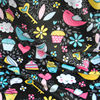 Free Shipping Baby Love Fabric Colorful Birds Design Digital Print Minky Fabric For Baby Diaper Baby