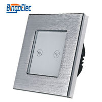 EU UK Three Colors Metal Touch Roller Shutter Switch Wall Window Switch Curtain Switch