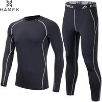 Mens Basketball Soccer Running Male Compression Suit T shirt Men Joggers Trousers Shirt Bodybuilding Tights Set Workout Fitness