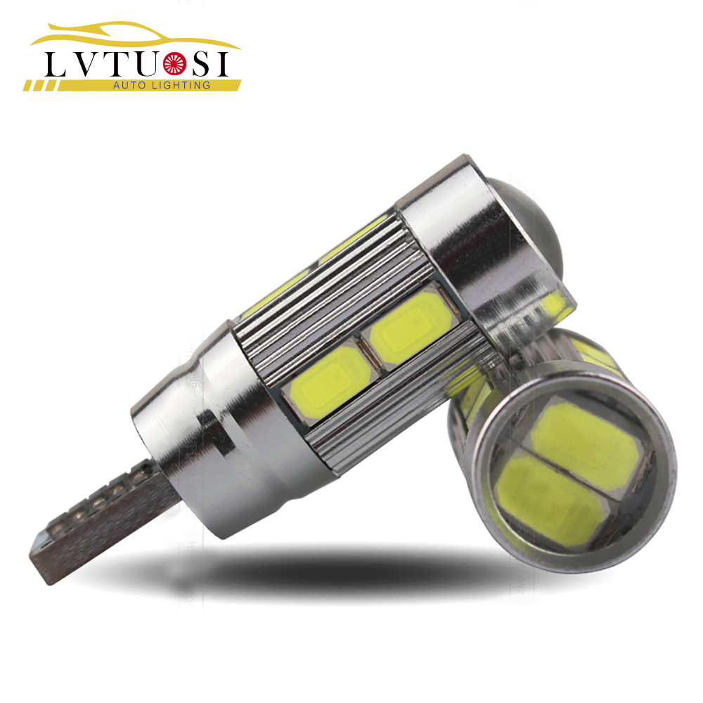 LVTUSI  10X T10 Car LED T10 W5W 194 10 SMD 5730 Car Lights parking LED light Auto T10 LED Headlight Bulbs Signal White DJ