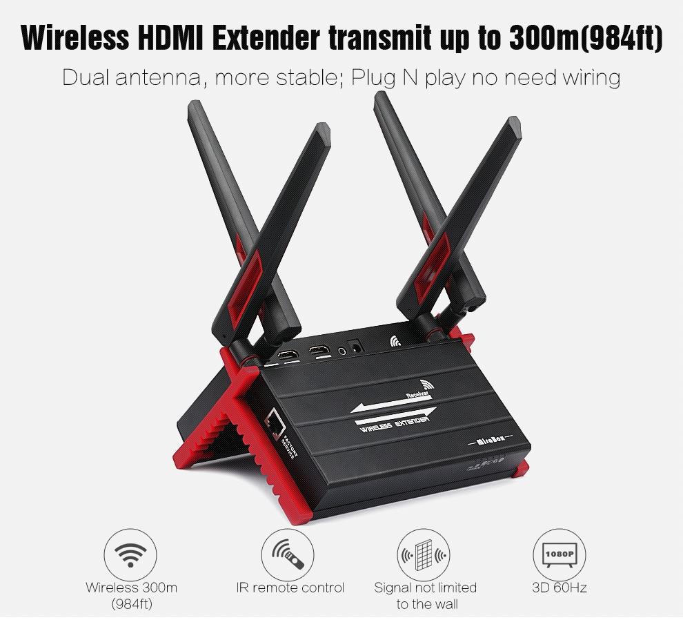 MiraBox 300m (984ft)HD 1080P 5.8GHZ hdmi wireless transmitter Receiver IR Remote Control Wifi AV Video hdmi wireless transmitte 580hdmi 5 8ghz ir remote extender 300m hdmi wireless av transmitter