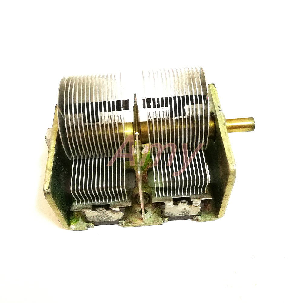 Image 3 - New people made 246 type 2*460PF radio dual variable capacitor-in Capacitors from Electronic Components & Supplies