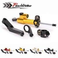 Free shipping Motorcycles Adjustable Steering Stabilize Damper Bracket Mount kit For HONDA CBR 954RR CBR954 RR 2002 2003
