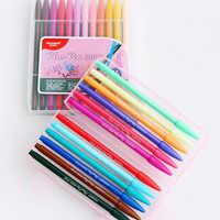 Набор гелевых ручек 12/24/36 цветов, цветные ручки 0,38 мм, Набор цветных ручек из тонкого волокна для линейного рисования
