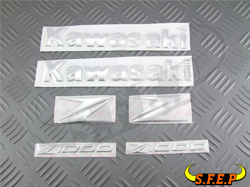 Motorcycle Stickers 3D Decorated Decals Sticker Case For Kawasaki Z250 Z800 Z1000 Logo Badge