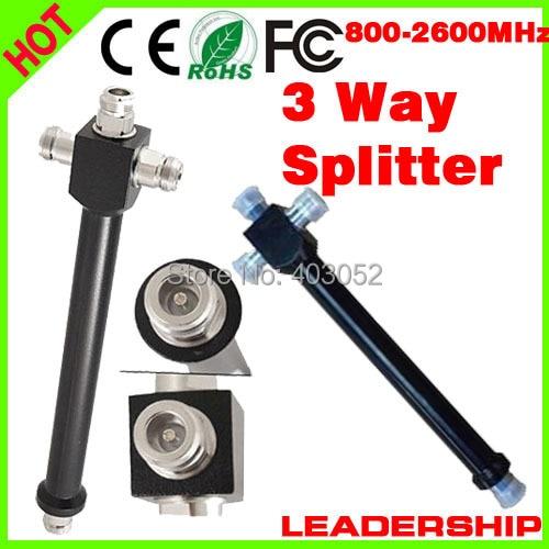 1 Piece 800mhz-2500MHz 3 Ways N Type Female Joint 200W Power Divider Broadcast Power Divider Splitter 1/3 Power Divider Booster