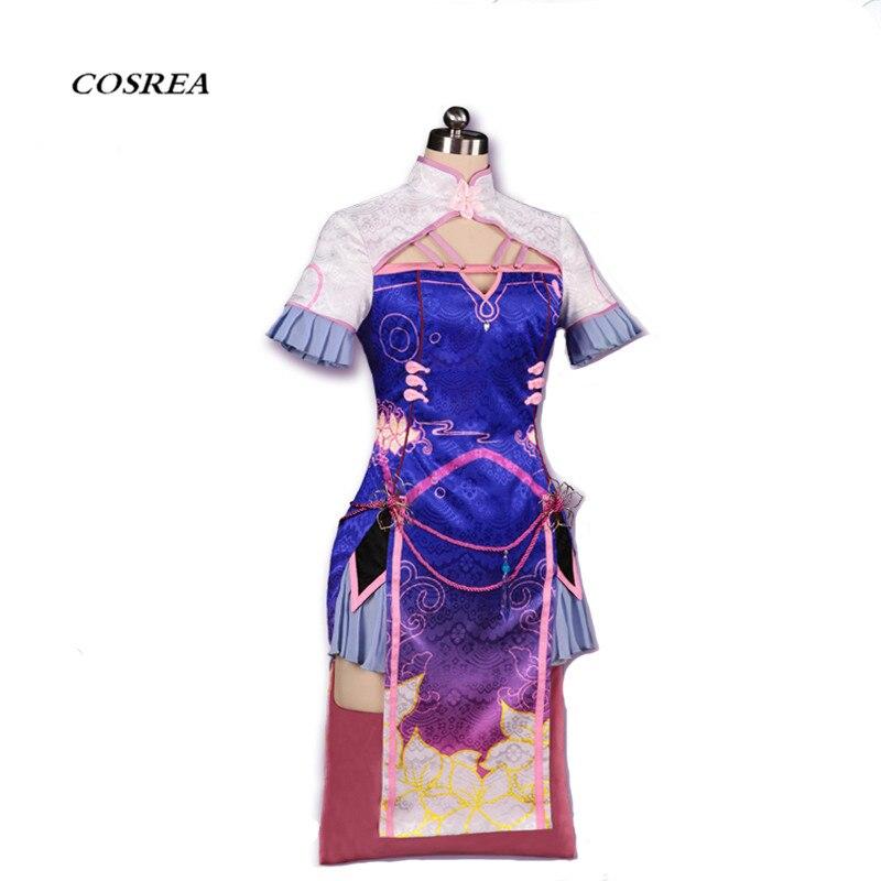 COSREA 2018 new OW cosplay costume DVA Chinese Cheongsam Women and Girls D VA dress Halloween