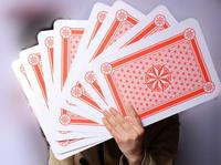 Retail free shipping A4 9 times size of the regular playing card family party entertainment big deck magic poker