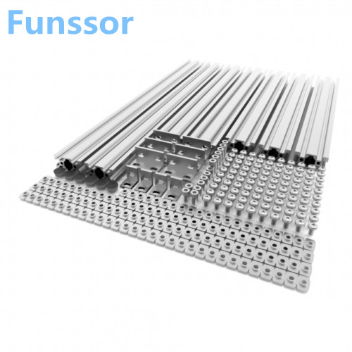 Funssor AM8 3D Printer Extrusion Metal Frame Full Kit for Anet A8 upgrade Natural