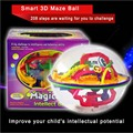 208 Steps Smart 3D Maze Ball School Intelligence Challenge Games Tools Magical Intellect Balance Logic Ability Puzzle Ball Toy