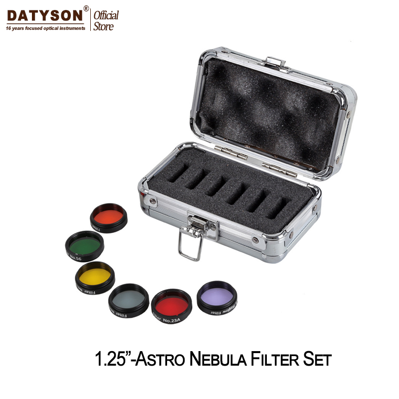1.25 Color Astro Filters Set (6 pieces) for Astronomical Telescopes Ocular Lens Planets Nebula Filter SkyGlow