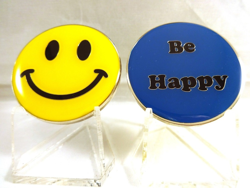 Hot sales SMILEY Face Smiling Be Happy Challenge Coin United States Military Emoticon Gi ...