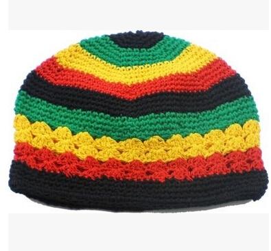 10pcs Jamaican Rasta hat Bob Marley hat Jameican hat tams fancy dress costumes Crochet rasta beanies Gorro Bob marley cap G-72 2016 men women jamaican rasta hat dreadlocks wig marley caribbean fancy dress prop unisex knitted beanie hat handmade reggae cap