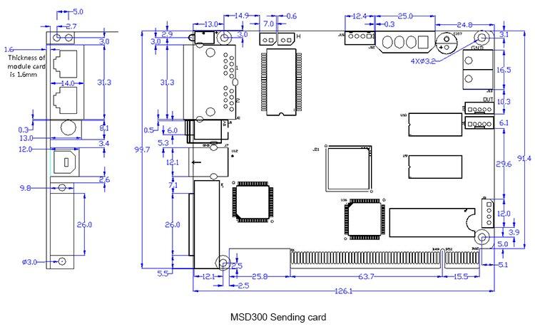 Nova M3 MSD300 LED Дисплей жіберу карточкасы, - LED Жарықтандыру - фото 6