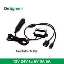 12V24V step down 5V cigar lighter converter to double dual U