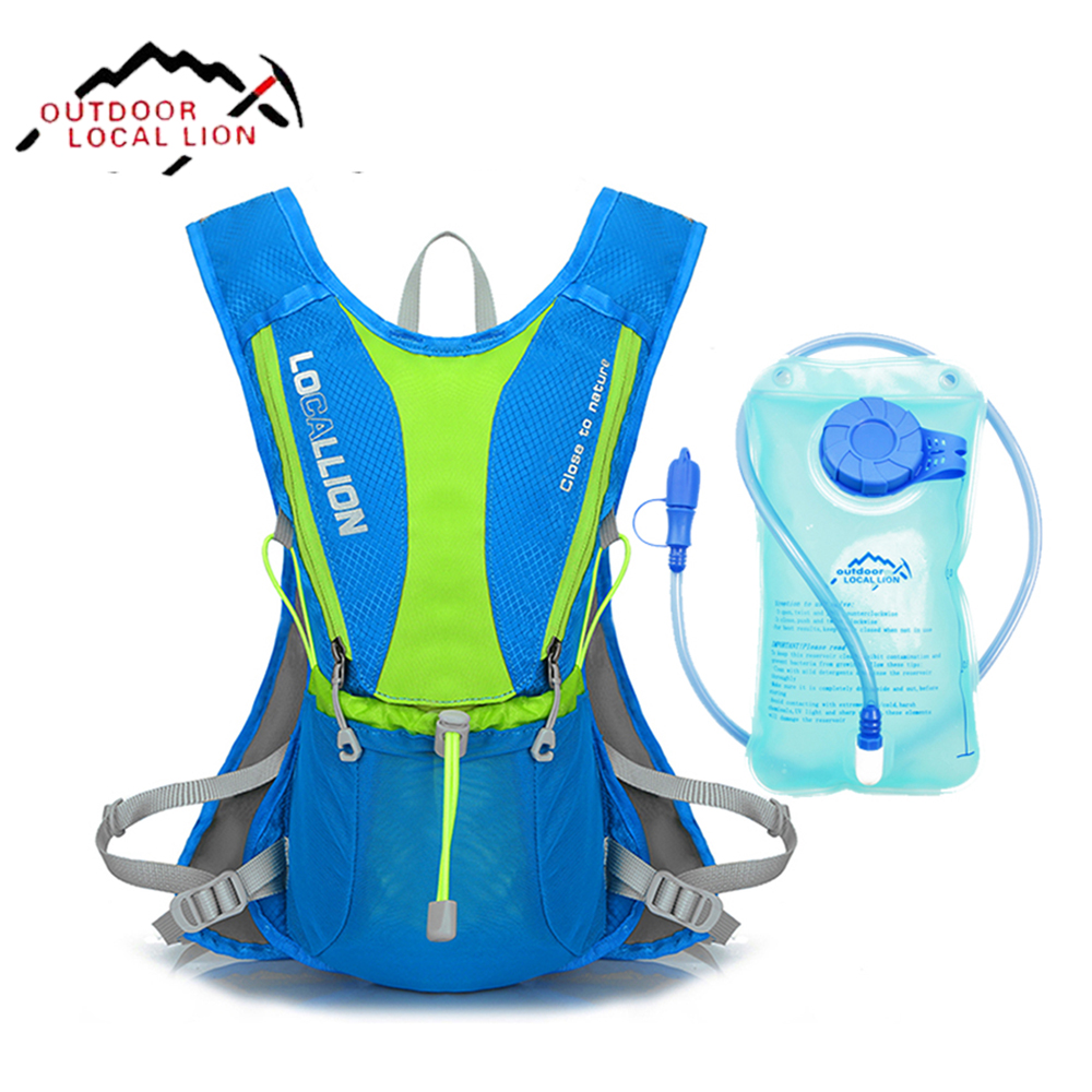 LOCAL LION Bicycle Backpack <font><b>Cycling</b></font> Hydration With 1L Water Bladder Bag Light Waterproof Running Bicycle Backpack Sport Bag 5L